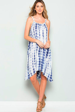 Tie Dye Print Sleeveless Dress